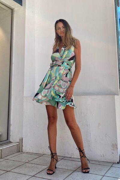 Jaqcueline Mini Wrap Dress