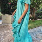 Folegandros Mint Assynmetrical Dress