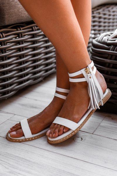 Onyx Sandals – White