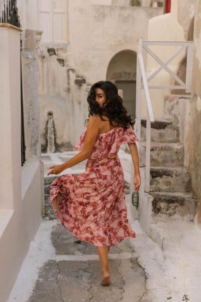 Nadia Midi Ruffled Dress