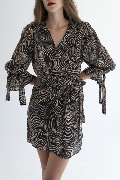 Coffee Zebra Mini Dress