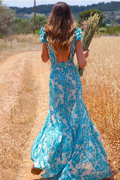 Moroccan Ground Dress – Aqua