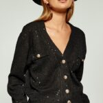 Cropped Sequin Knit