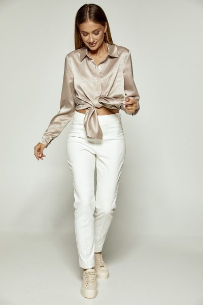 Silky Crinkled Shirt – Fango