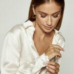 Silky Crinkled Shirt – Cream