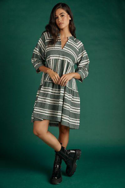 Ismini Boho Dress – Green
