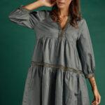 Valentina Boho Dress – Grey