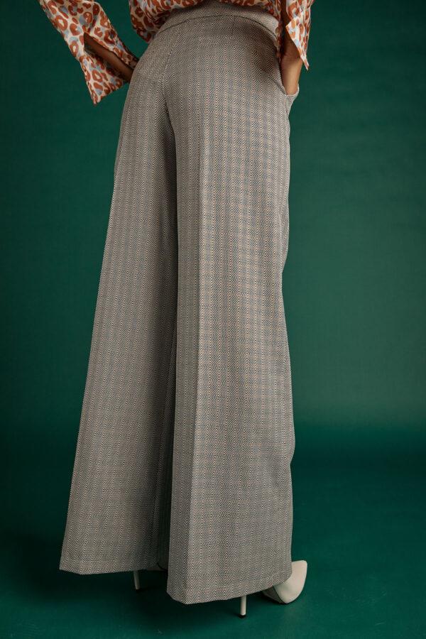 Grey Plaid Pants