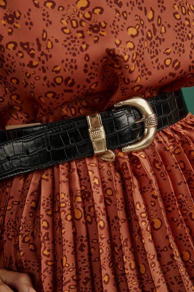 Croco Leather Belt