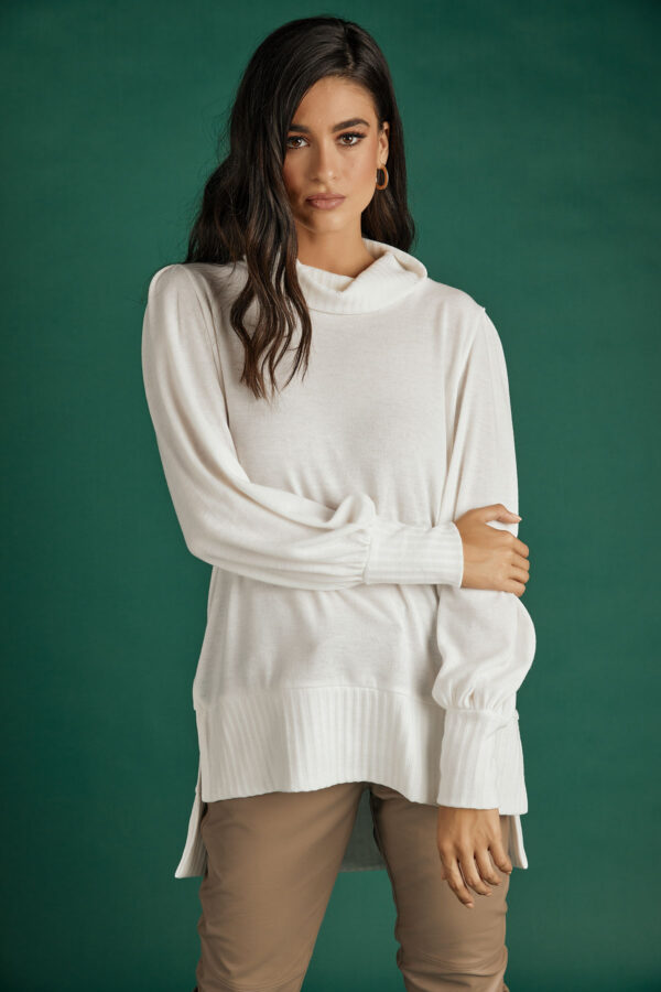 White Loose Knit