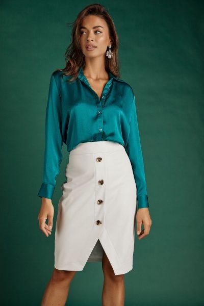 Silky Shirt – Emerald
