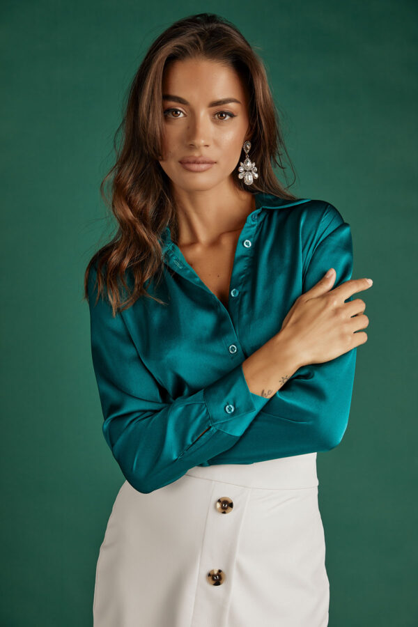 Silky Shirt – Emerald