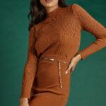 Rib Knit Skirt – Cinnamon