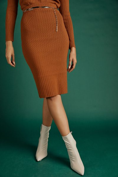 Rib Knit Skirt – Cinnamon