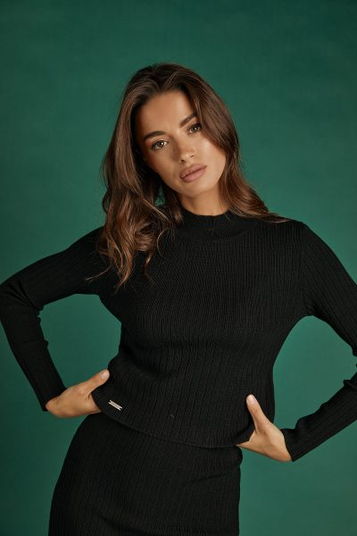 Rib Knit Top – Black