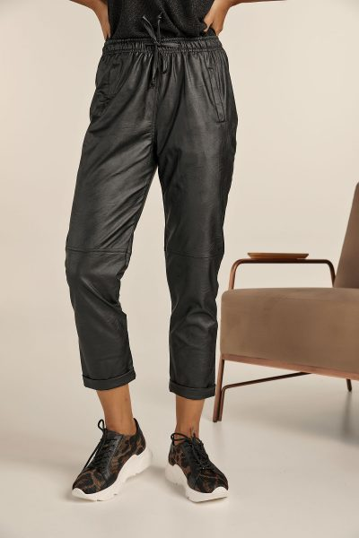 Leather Jogger Pants – Black