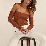 Bustier Knit Top – Cinnamon