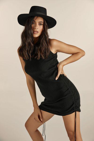 Mini Knit Dress – Black