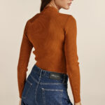 Front Cut Knit Top – Cinnamon