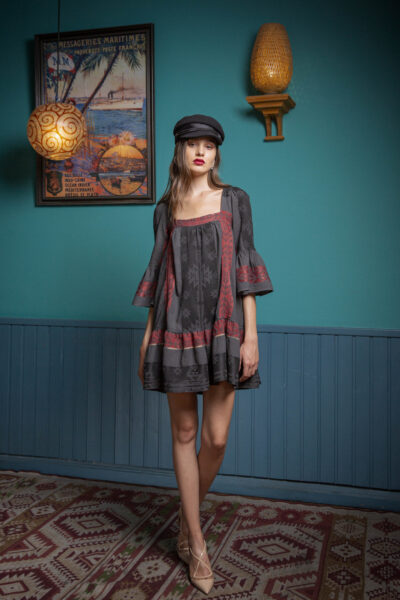 Bertha Dress – Burgundy