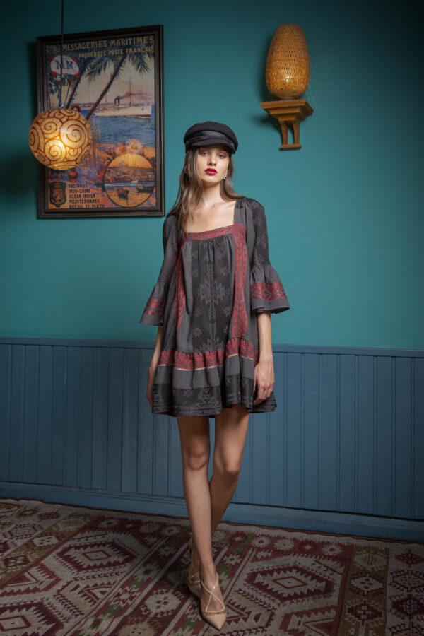 Bertha Dress – Burgundy