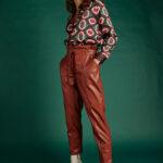 Highwaist Belted Leather Pants – Ekai