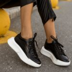 G31 Black Croco Sneakers