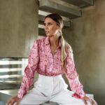 Pink Snake Silky Shirt
