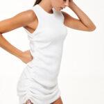 Mini Knit Dress – White