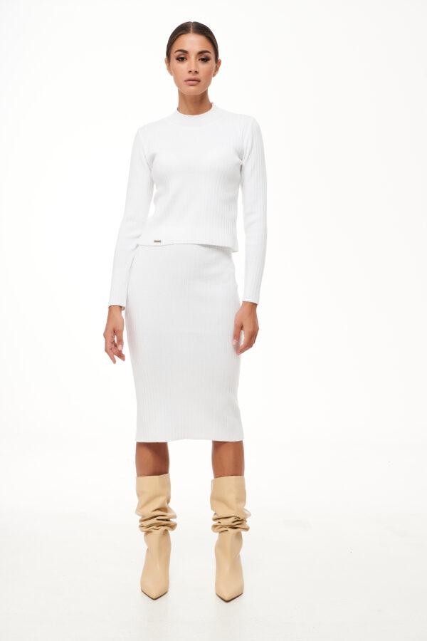 Rib Knit Top – White