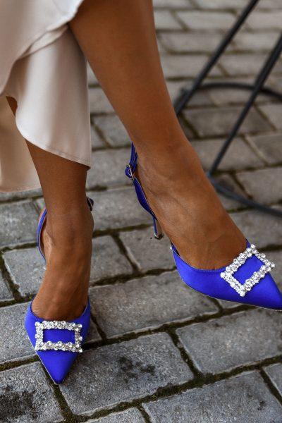 Jeweled Pumps – Royal Blue