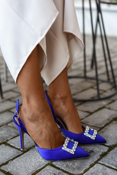 Jeweled Pumps – Royal Blue