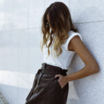 Mini Vegan Leather Skirt – Black
