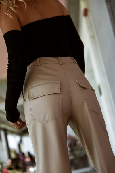 Loose Fit Leather Pants – Fango