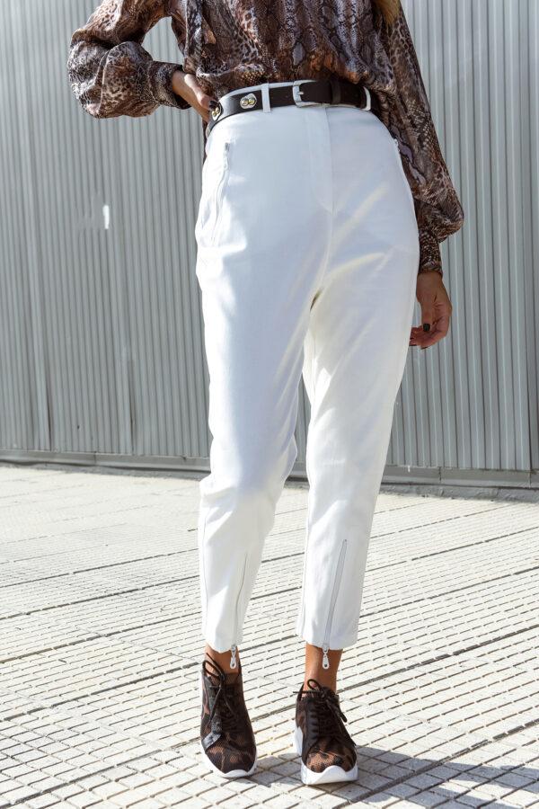 Highwaist White Carrot Pants