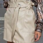 Mini Vegan Leather Skirt – Fango