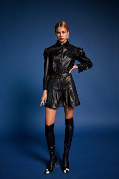 Leather Shorts – Black
