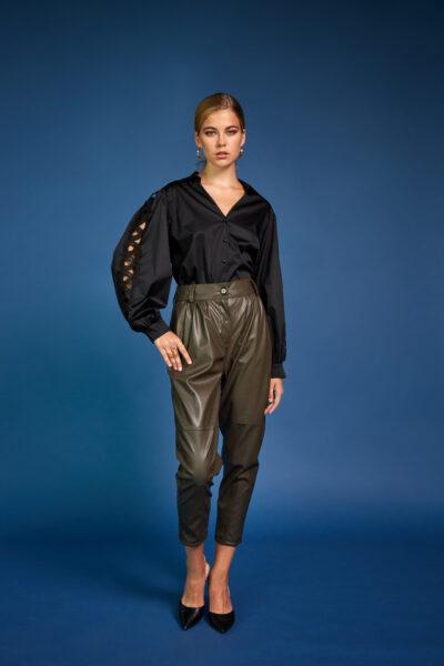 Evridiki Leather Pants