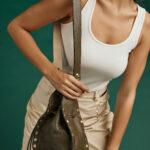 Studded Pouch Bag – Khaki