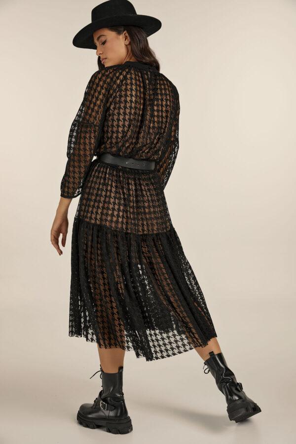 Pied De Poule Lace Dress