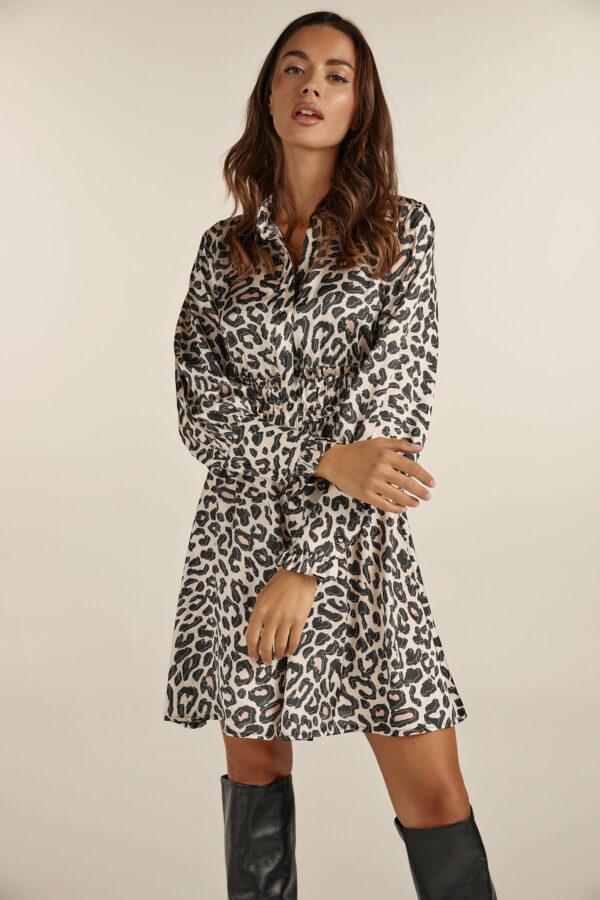 Leopard Mini Chemisier Dress