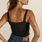 Bustier Crop Top – Black