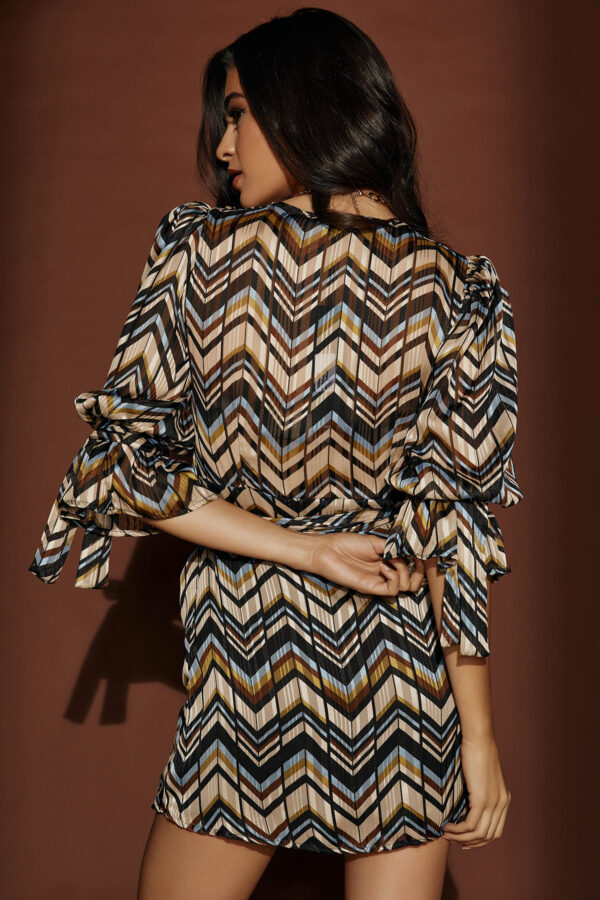 Geo Mini Wrap Dress