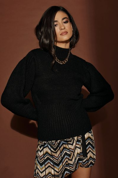 Big Sleeves Knit – Black
