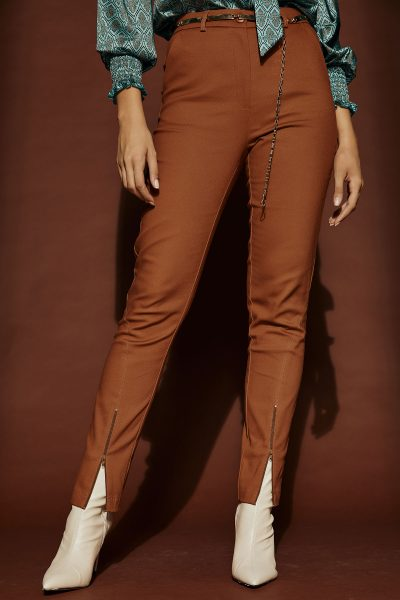 Straight Highwaist Pants – Camel