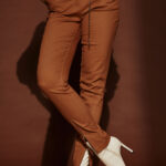 Straight Highwaist Pants – Camel