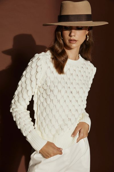 Lepia White Sweater
