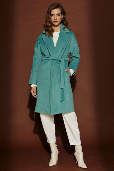 Belted Aqua Coat