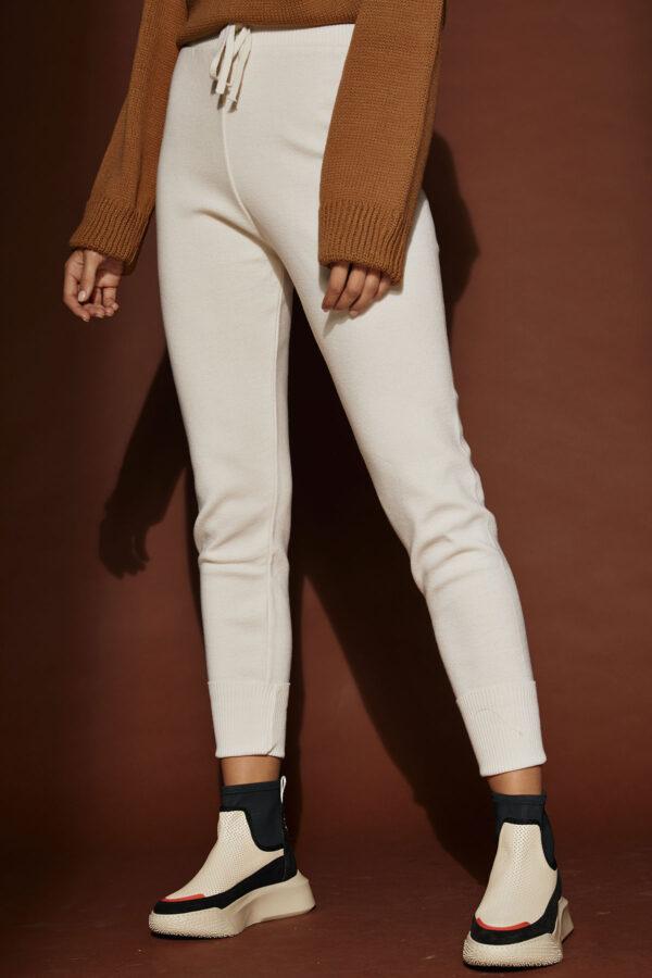 Knit Jogger Pants – Cream