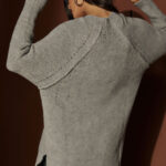 Grey V neck Knit